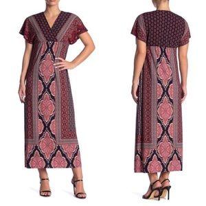 London Times Leandra Maxi Boho Jersey Dress